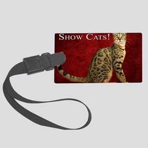 Show Cats Cover Large Luggage Tag