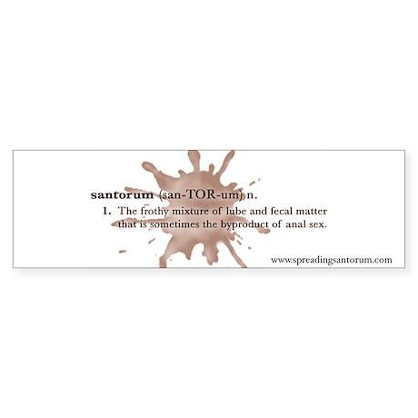 Santorum Bumper Sticker