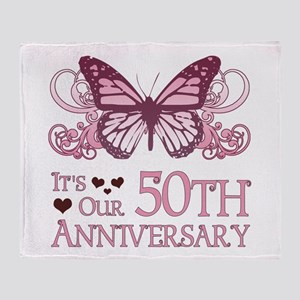 50th Wedding Aniversary (Butterfly) Throw Blanket