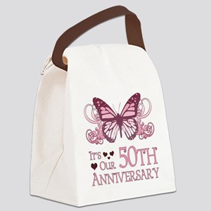50th Wedding Aniversary (Butterfly) Canvas Lunch B