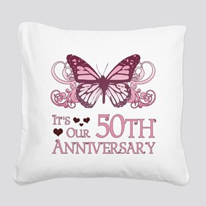 50th Wedding Aniversary (Butterfly) Square Canvas