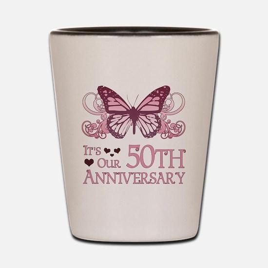 50th Wedding Aniversary (Butterfly) Shot Glass