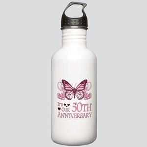 50th Wedding Aniversary (Butterfly) Stainless Wate