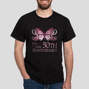 50th Wedding Aniversary (Butterfly) Dark T-Shirt