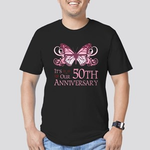 50th Wedding Aniversary (Butterfly) Men's Fitted T