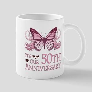 50th Wedding Aniversary (Butterfly) Mug