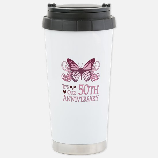 50th Wedding Aniversary (Butterfly) Stainless Stee