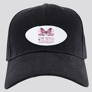 50th Wedding Aniversary (Butterfly) Black Cap