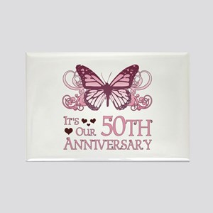 50th Wedding Aniversary (Butterfly) Rectangle Magn