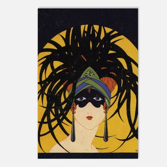 Art Deco Lady Postcards (Package of 8)