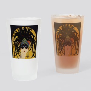 Art Deco Lady Drinking Glass