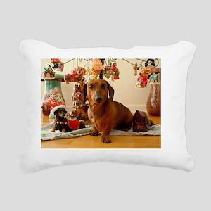 ChristmasDoxie1Card Rectangular Canvas Pillow