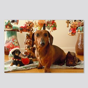 ChristmasDoxie1Pillow Postcards (Package of 8)
