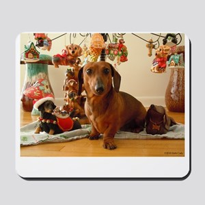 ChristmasDoxie1Dog Mousepad
