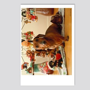 ChristmasDoxie1Poster Postcards (Package of 8)