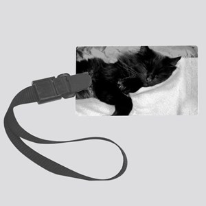 card lazy day Large Luggage Tag