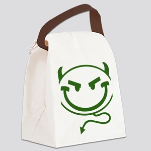 Little Meanies - Green Canvas Lunch Bag