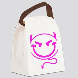Little Meanies - Pink Canvas Lunch Bag