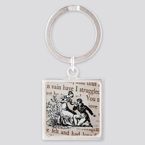 Mr Darcys Proposal, Jane Austen Square Keychain