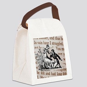 Mr Darcys Proposal, Jane Austen Canvas Lunch Bag