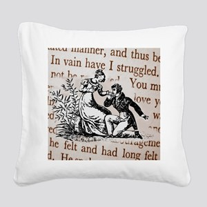 Mr Darcys Proposal, Jane Aust Square Canvas Pillow