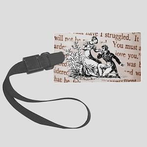 Mr Darcys Proposal, Jane Austen Large Luggage Tag