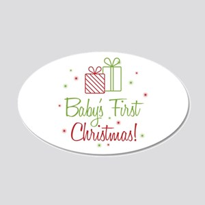 Baby's First Christmas 20x12 Oval Wall Decal