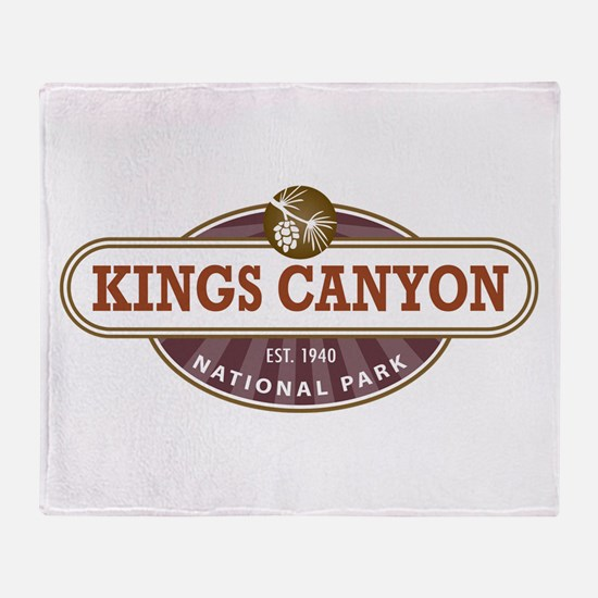 Kings Canyon National Park Throw Blanket