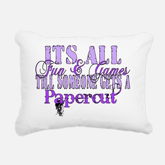 papercut Rectangular Canvas Pillow