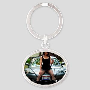 018 copy Oval Keychain