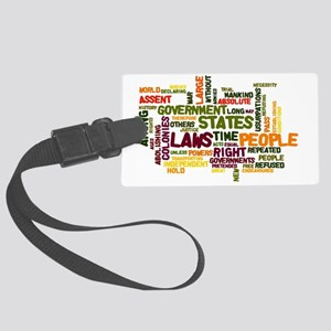 Declaration of Independence Large Luggage Tag