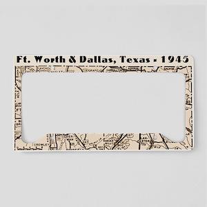 ftworth_dallas_1945_11x17 License Plate Holder