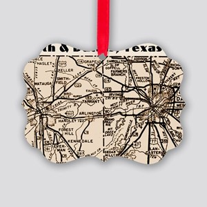 ftworth_dallas_1945_11x17 Picture Ornament