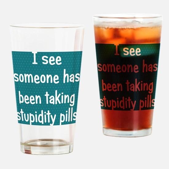 stupiditypills_ipad1 Drinking Glass