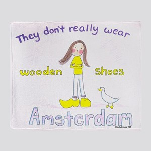 amsterdamwoodenshoestm Throw Blanket