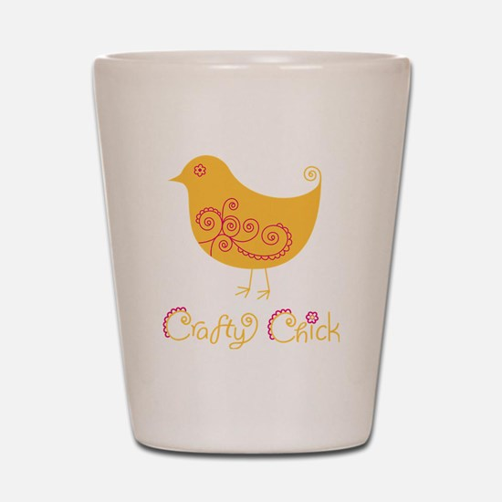 craftychickorgpink Shot Glass