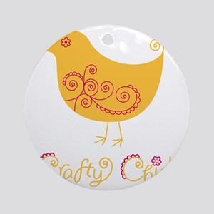 craftychickorgpink Round Ornament