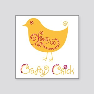 "craftychickorgpink Square Sticker 3"" x 3"""
