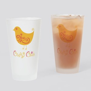 craftychickorgpink Drinking Glass