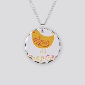 craftychickorgpink Necklace Circle Charm