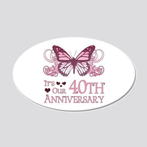 40th Wedding Aniversary (Butterfly) 20x12 Oval Wal
