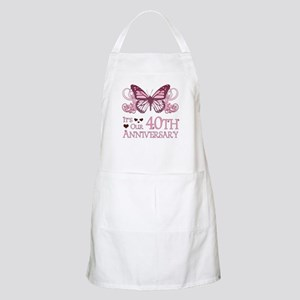 40th Wedding Aniversary (Butterfly) Apron