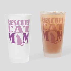 Rescued-Cat-Mom Drinking Glass
