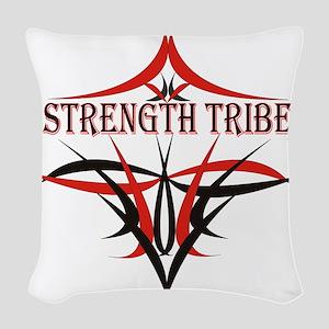 StrengthTribeLogo1 Woven Throw Pillow