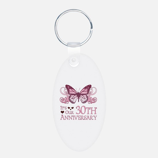 30th Wedding Aniversary (Butterfly) Keychains