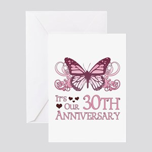 30th Wedding Aniversary (Butterfly) Greeting Card