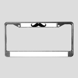 Mustache Beard License Plate Frame