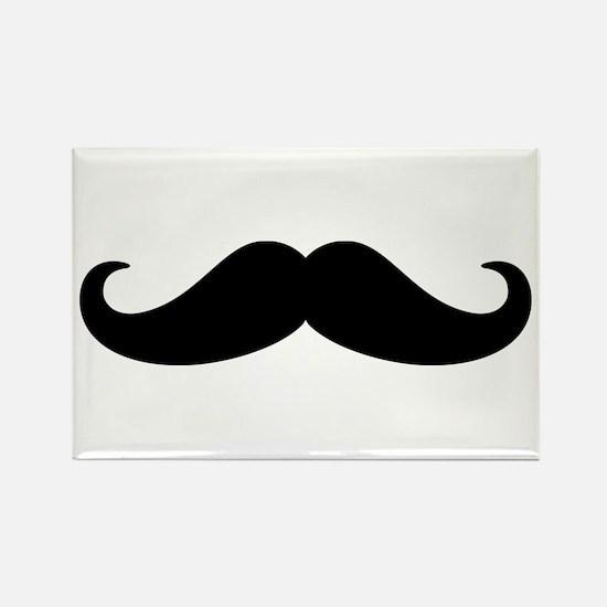 Mustache Beard Rectangle Magnet (10 pack)