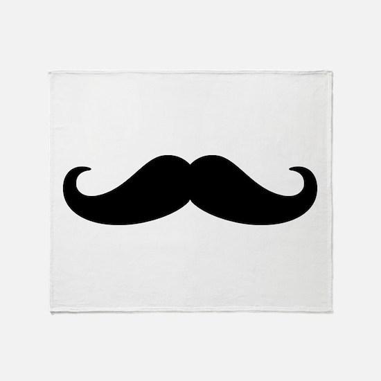 Mustache Beard Throw Blanket