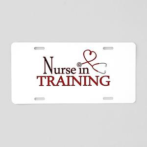 Nurse in Training Aluminum License Plate